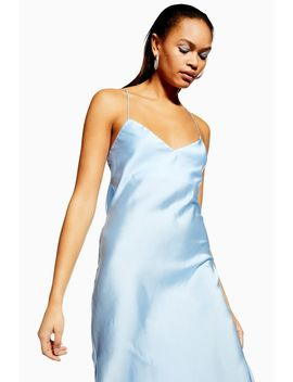 Satin Cowl Back Slip Dress by Topshop