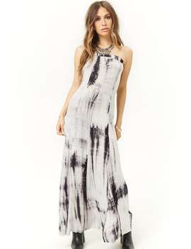 Tie Dye Maxi Tube Dress by Forever 21