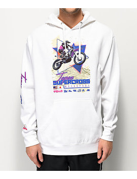 Vitriol Japan Supercross White Hoodie by Vitriol