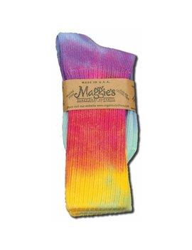 Maggies Organics   Tie Dye Crew Socks, Lite Tie Dye Crew 10 13 by Maggie's Organics