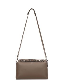 Fendi Brown/Black By The Way Medium Leather Top Handle Bag by Fendi