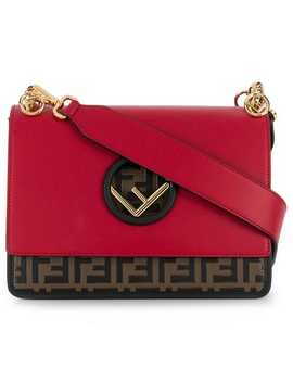 Kan I F Leather Shoulder Bag by Fendi