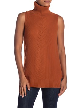 Cashmere Cable Knit Sleeveless Sweater by Sofia Cashmere