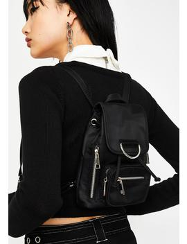 Dark Super Charged Nylon Backpack by Current Mood