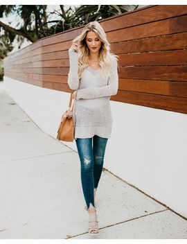 Life's A Journey Knit Sweater   Heather Grey   Final Sale by Vici