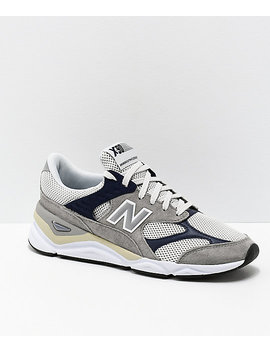 New Balance Lifestyle X90 Reconstructed Marblehead & Pigment Blue Shoes by New Balance
