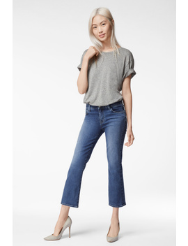 Selena Mid Rise Cropped Boot Cut In Polaris Destruct by J Brand