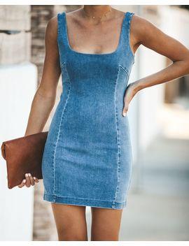 You Wish Denim Bodycon Dress by Vici