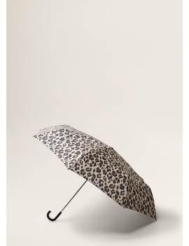 Leopard Print Umbrella by Mango