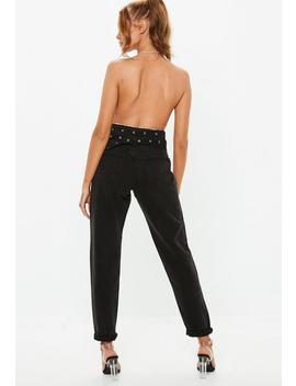 Black Riot High Rise Mom Rigid Jeans by Missguided