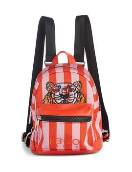 Mini Kanvas Embroidered Tiger Stripe Backpack by Kenzo