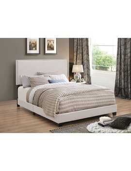 Porch & Den Manes Wood And Polyester Upholstered Bed by Porch & Den