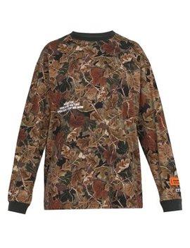 СТИЛЬ Public Figure Leaf Print Cotton Sweatshirt by Heron Preston