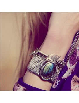 Mikal Winn For Free People Labradorite Mesh Cuff by Free People