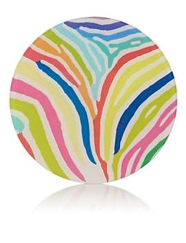 Zebra Striped Acrylic Coaster Set by Haas Brothers Xo Barneys New York