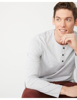 Long Sleeve Henley Nep T Shirt by Rw & Co