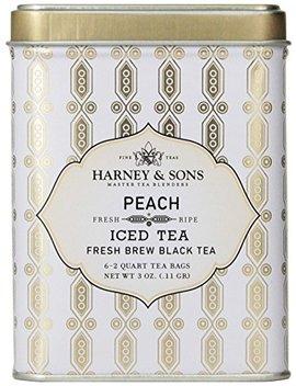 Harney & Sons Black Iced Tea, Peach, 6 Tea Bags by Harney & Sons