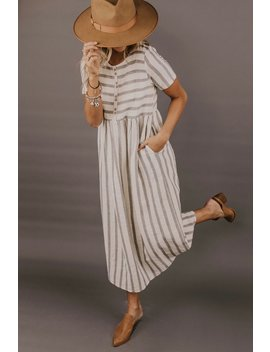 Brandy Stripe Dress by Roolee