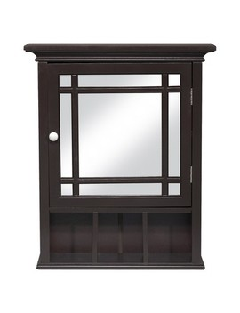 Neal Wall Medicine Cabinet Dark Espresso   Elegant Home Fashions by Shop This Collection