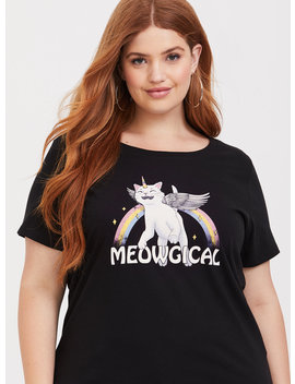Black Meowgical Crew Tee by Torrid
