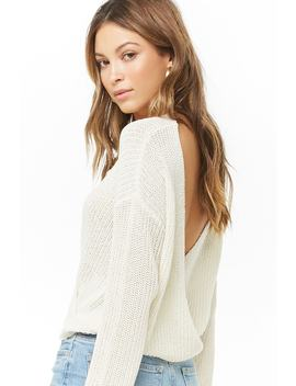 Plunging Surplice Sweater by Forever 21