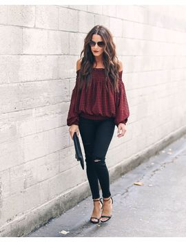 Manchester Smocked Off The Shoulder Top by Vici