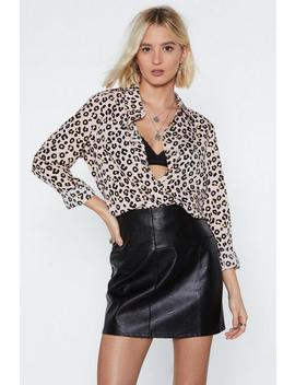 Meow Is The Time Leopard Shirt by Nasty Gal