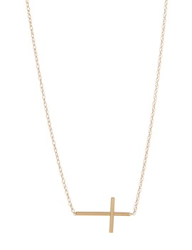 14 K Yellow Gold Cross Necklace by Candela
