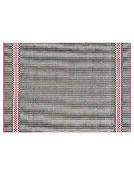 Elsa Flat Weave Rug, Black by One Kings Lane