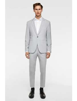 Heathered Suit  Casual Suits Man Sale by Zara