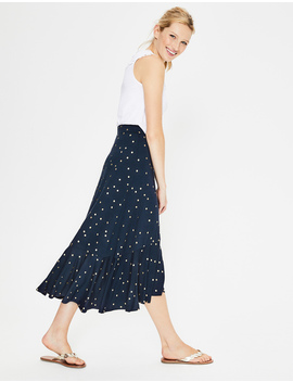 Fluted Hem Jersey Skirt by Boden