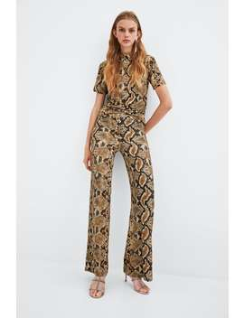 Snake Print Trousers  View All Trousers Woman Sale by Zara