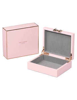 Ted Baker Medium Lacquered Jewellery Box, Pink by Ted Baker