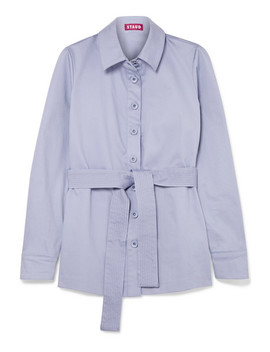 Sabrina Belted Stretch Cotton Jacket by Staud