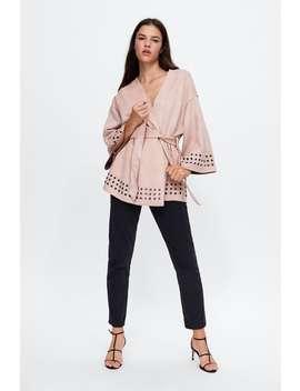 Veste Kimono Effet Daim  Blousons by Zara