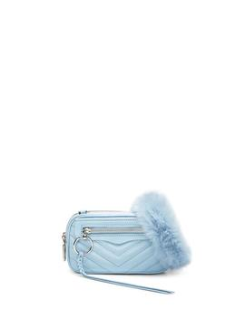 Double Zip Crossbody With Faux Fur Guitar Strap by Rebecca Minkoff