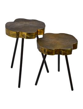 Tree Slice Side Table   Set Of 2 by Pols Potten