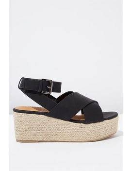 Casey Cross Over Wedge by Cotton On