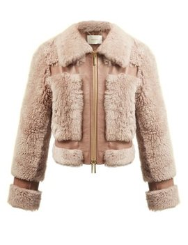 Fleeting Shearling Bomber Jacket by Zimmermann