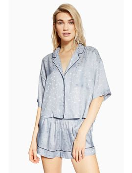 Space Jacquard Pyjama Shirt by Topshop