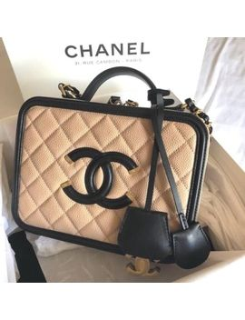Chanel Cc Filigree Chain Shoulder Hand Mini Vanity Bag Case Box Woman Auth New by Chanel