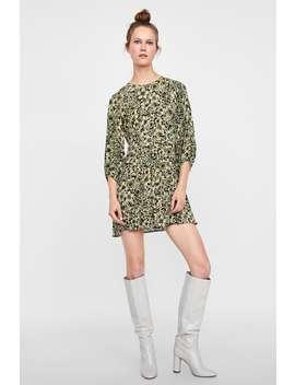 Gemustertes Kleid Mit Zierfalten  Alles Anzeigen Kleider Damen Sale by Zara