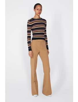 Semi  Sheer Striped Sweater View All Knitwear Woman New Collection by Zara