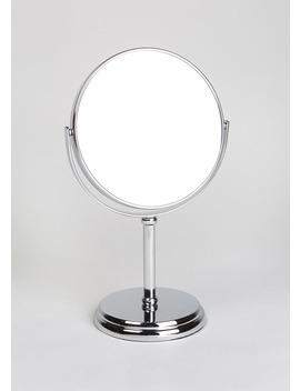 Double Sided Pedestal Mirror (30cm X 17cm) by Matalan