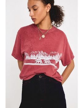 Uo   T Shirt Manches Courtes Ours D'alaska by Urban Outfitters