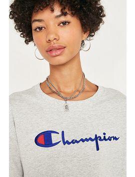 Champion   T Shirt Court Oversize Gris à Logo Et Inscription by Champion