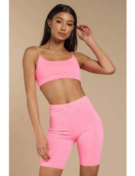 Barbie Race Hot Pink Biker Shorts Set by Tobi