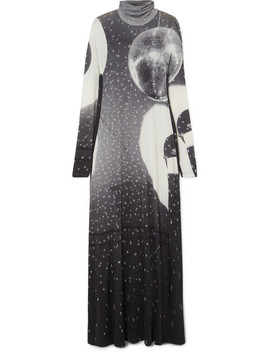 Printed Stretch Jersey Maxi Dress by Mm6 Maison Margiela