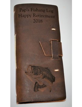 Fly Fishing Log Premium Leather Custom Engraved And Personalized All Engraving Is Included by Etsy