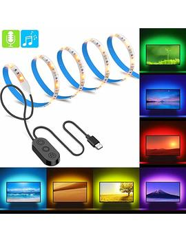 Minger Music Pro Rgb Led Strip Lights, Multi Color Tv Backlight Bias Lighting Kit With Controller, 6.6ft Waterproof, 7 Colors To Choose, Usb Powered by Amazon
